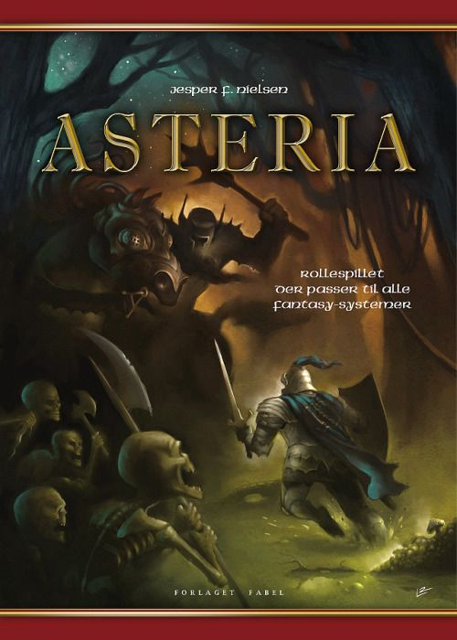 Asteria book cover by Lars Samsoe for roleplaying-system book by Jesper F. Nielsen.