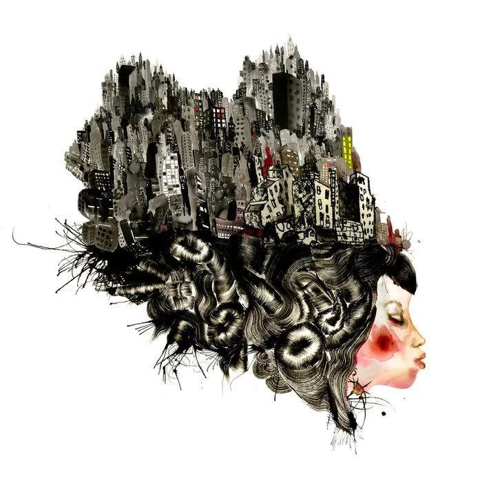 """Tokyo Girl"" art by David Choe, 2010"