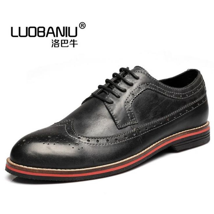 59.90$  Buy here - http://ali9dg.shopchina.info/1/go.php?t=32755367820 - Plus Size 44 45 man's  Oxford shoes dermis men's shoes Lace up business casual shoes black, yellow, red Male Flats Herrskor  #buyonlinewebsite