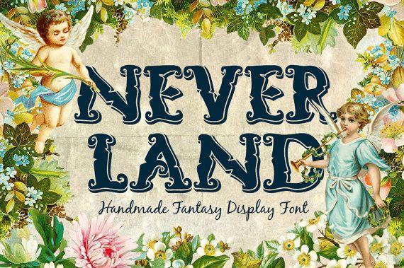 Neverland Fantasy Handlettered Font by TSVCreative on Etsy