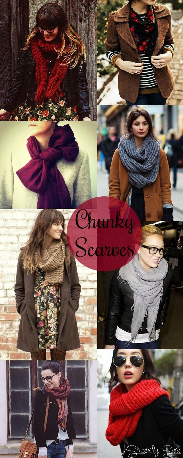 Inspiration: Chunky Scarves
