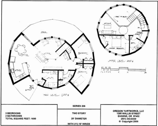 two story yurt floorplan
