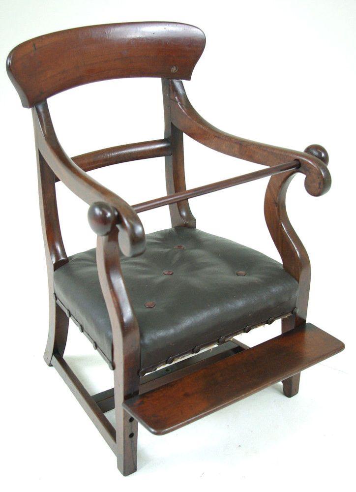 Antique High Chair | Mahogany Child's Chair |Scotland 1820 | B295 - Best 25+ Antique High Chairs Ideas On Pinterest Prim Decor