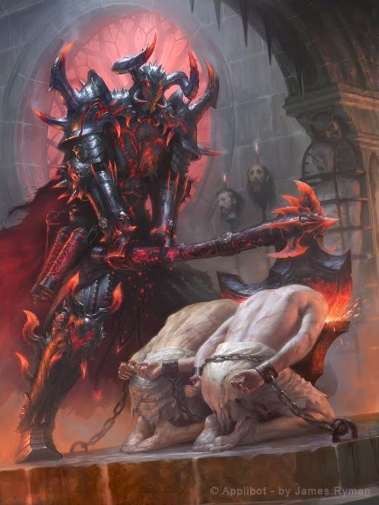 As sombrias ilustrações de fantasia e terror para card games de James Ryman