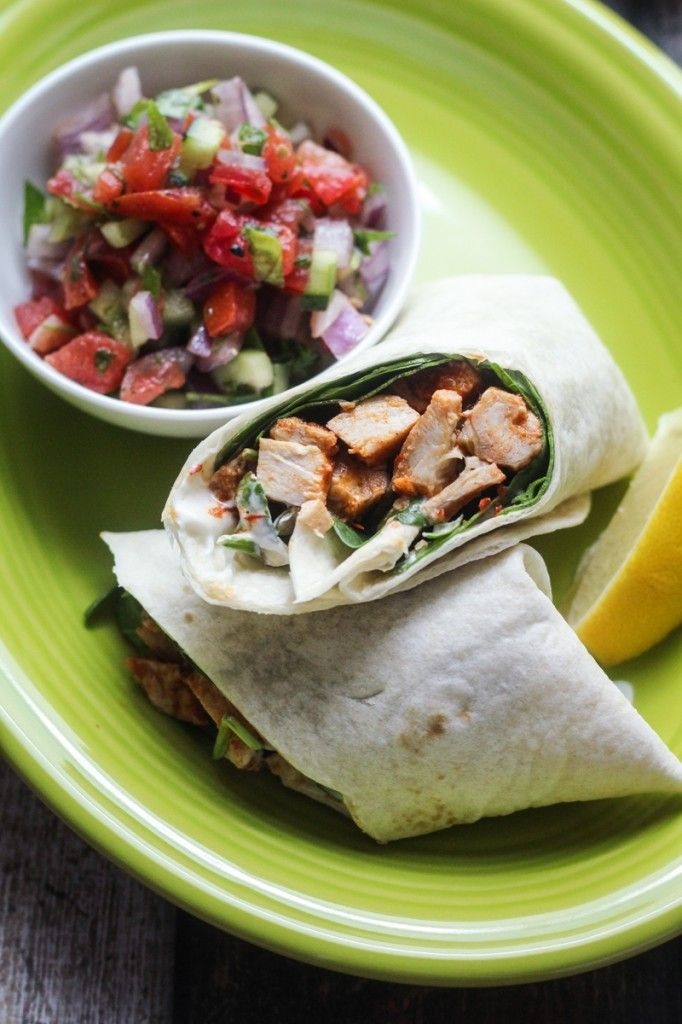 Healthy Moroccan Harissa Chicken Wrap Recipe. Re-pin now, check later. #cleaneating