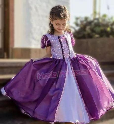 vestido disfraz princesa rapunzel  enredados