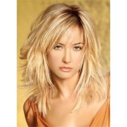 Layered Messy Straight Mid-Length Synthetic Hair Capless Wigs 16 Inches: M.Wigsbuy.com