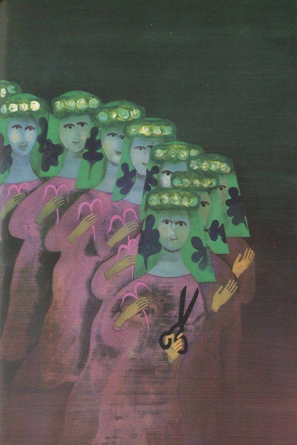 Illustrations by Eva Bednářová for 'Pohádky' (Fairy Tales)