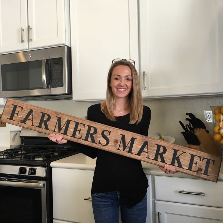 A personal favorite from my Etsy shop https://www.etsy.com/listing/290316501/farmers-market-sign