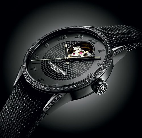 «So chic, so black» RAYMOND WEIL Freelancer Lady Urban Black (See more at:http://watchmobile7.com/articles/raymond-weil-freelancer-lady-urban-black) (1/2) #watches #raymondweil @Raymond Zhang WEIL