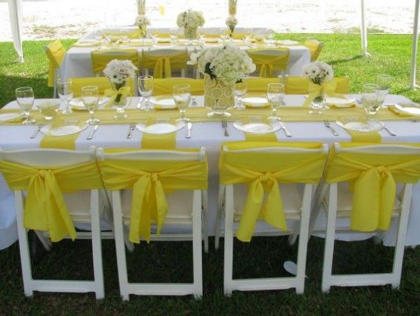 Lemon and yellow decor Lemon Theme Event Ideas