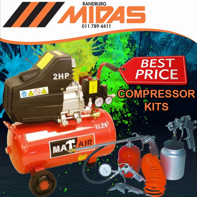 Extra low prices on #aircompressor kits available exclusively from Randburg Midas! #PowerTool