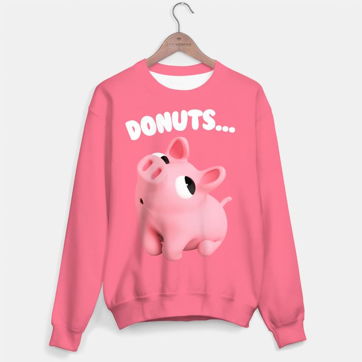 Rosa the Pig Donuts Pink Sweater, Live Heroes