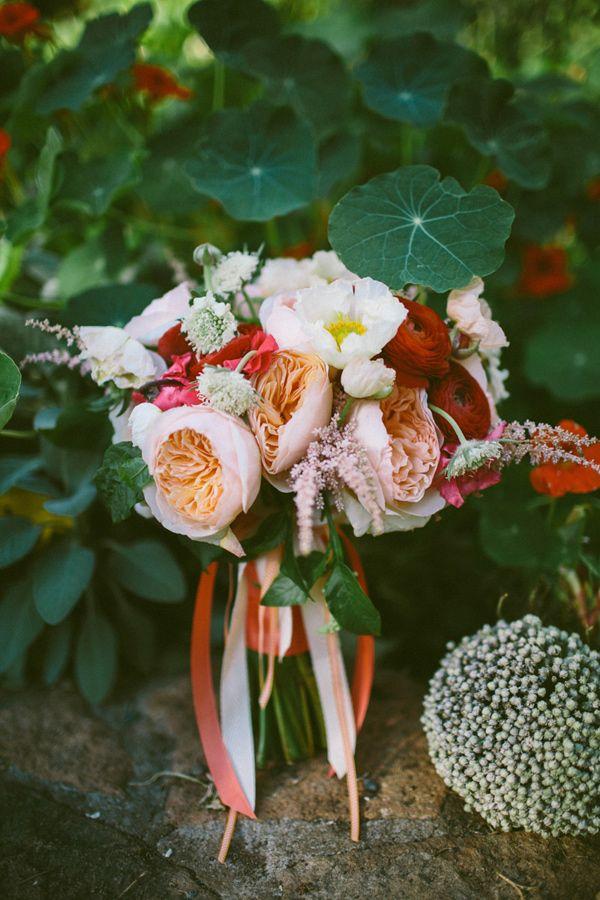 sweet bouquet // photo by Caroline Ghetes, flowers by Michael Daigian Designs // http://ruffledblog.com/colorful-sonoma-valley-wedding