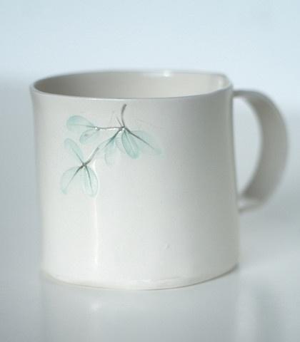 Leaf print mug from Karin Eriksson at Manos in Stockholm