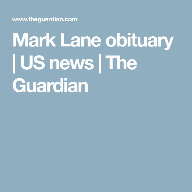 Mark Lane obituary   US news   The Guardian