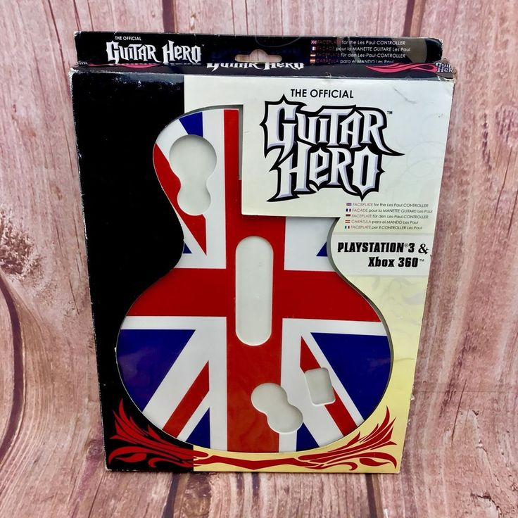 Official Guitar Hero faceplate Union Jack New Boxed Xbox Ps3 les paul controller