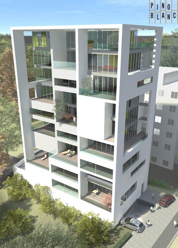 Pino Blanc Groningen  verticaal woonconcept met grote daktuinen in de stadGroningencollectief particulier opdrachtgeverschap.