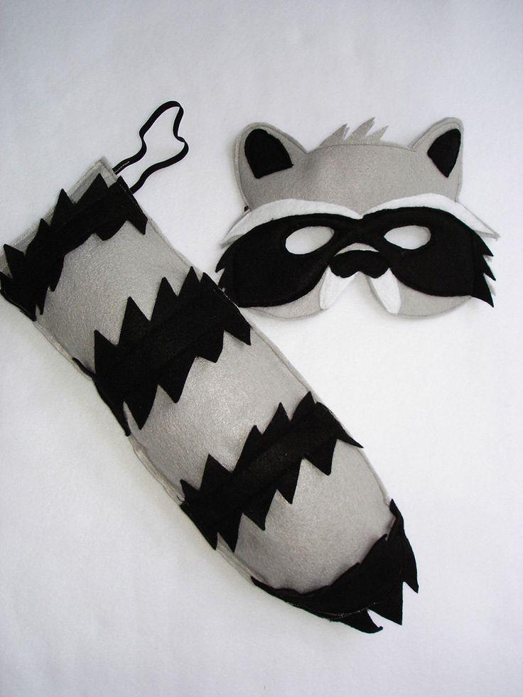 192 best dguisements images on pinterest costume ideas childrens woodland animal raccoon felt mask and tail set 2800 via etsy solutioingenieria Choice Image