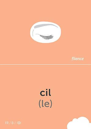 Cil #CardFly #flience #human #french #education #flashcard #language