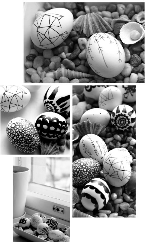 Scandinavian design on easter eggs