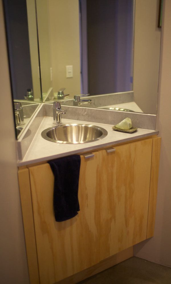 1000 ideas about corner sink bathroom on pinterest for Dwell bathroom designs