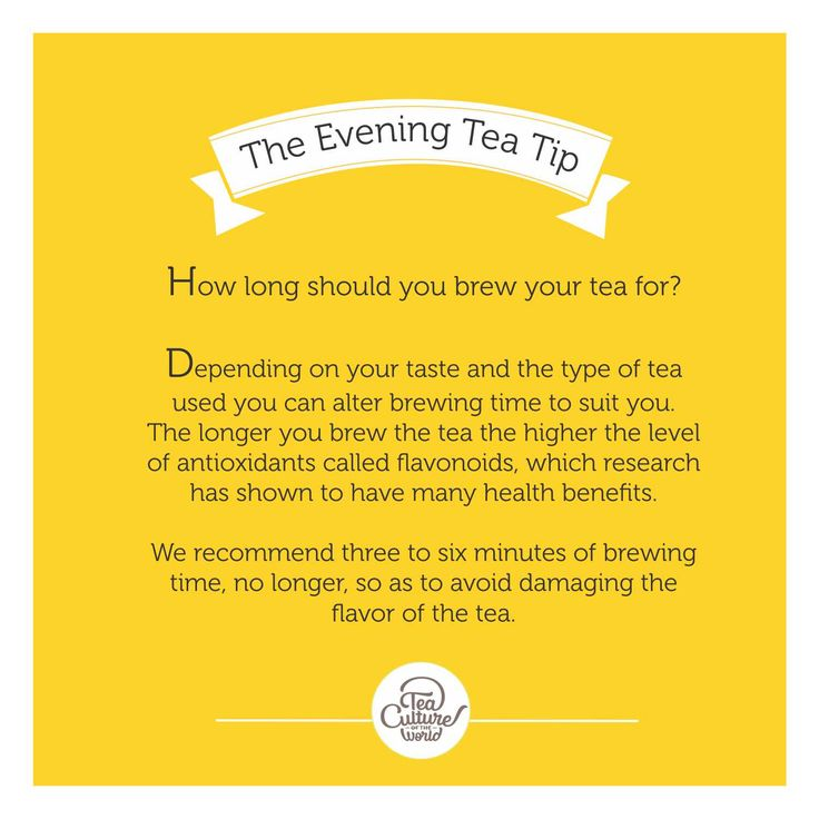 A quick evening tea tip to get you the perfect brew!