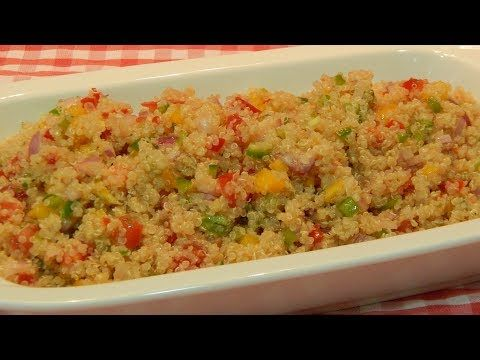 Receta de vinagreta de pimientos con quinoa - YouTube