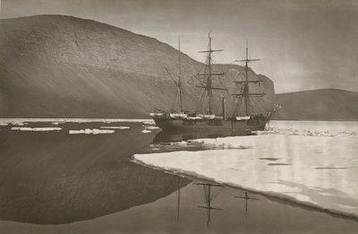 Ground to a halt. H.M.S.'Alert' stopped by sea ice off Cape Prescott, Ellesmere Island, part of Nunavut, Canada, 1875.