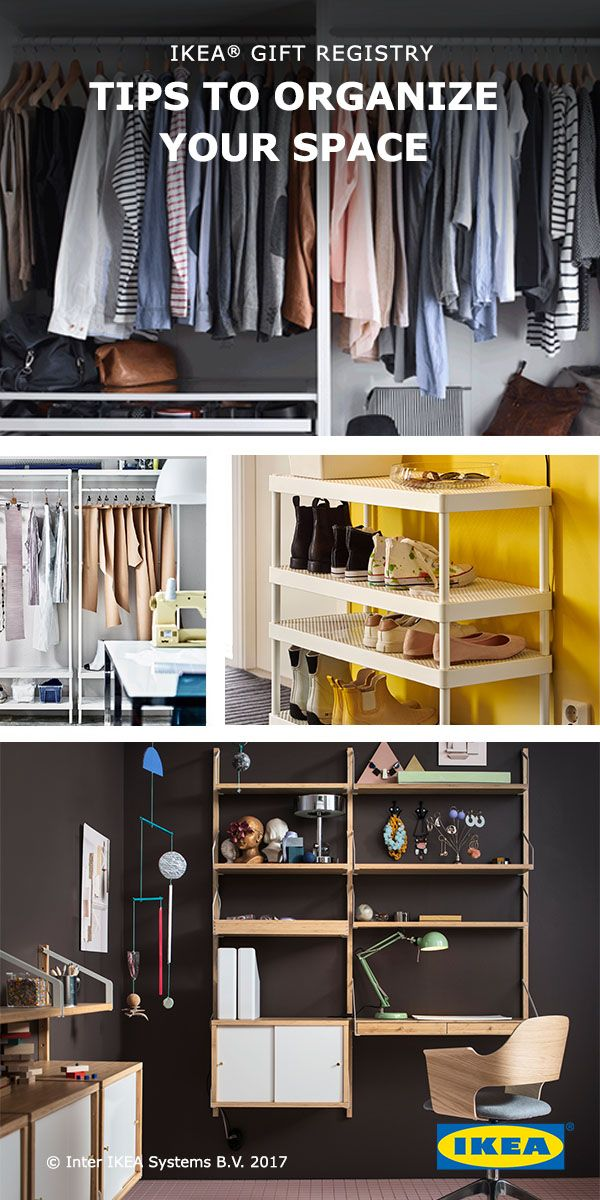 Check out organizing essentials to add to your IKEA Wedding Gift Registry! Whether your closet, your kitchen cabinet or your sock drawer, we have the solutions to help you make the most of your space. Clutter be gone!