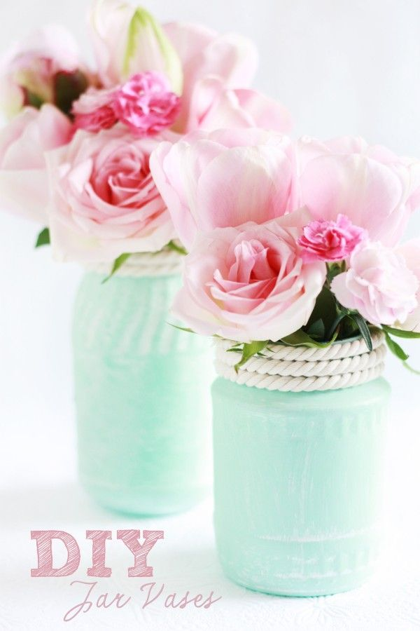 Cool tutorial for DIY Jar Vases :-) Perfect for your wedding or party!
