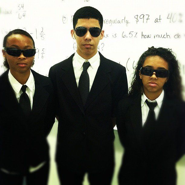 Wear a black suit, put on shades, get two other friends to do the same, and you'll have your top secret Men in Black group costumes.