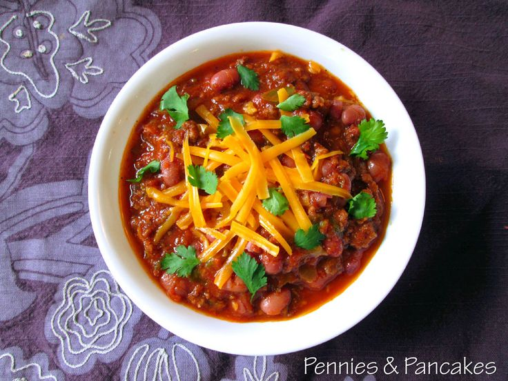 This is it! The BEST (and possibly healthiest) chili you will ever have the pleasure to eat, complete with SECRET healthy ingredients, your kids will never suspect. Uses dry bagged beans instead of canned sodium-infusded chili beans. Perfect recipe for rotating through the beans in your FOOD STORAGE, and absolutely delicious! Totally inexpensive, and it makes a ton. ~A perfect FREEZER meal!~ penniesandpancakes.blogspot.com