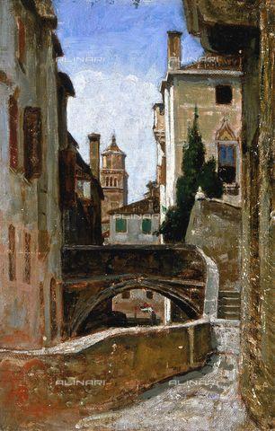 Vincenzo Cabianca ,  Stradina a Venezia.
