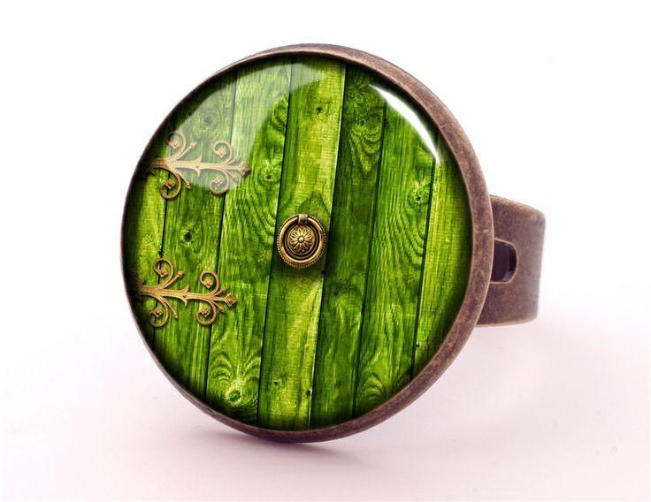HOBBIT DOOR Ring, Green Jewellery, 0332RB from EgginEgg by DaWanda.com