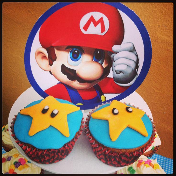 Cupcakes de blueberry Mario Bros