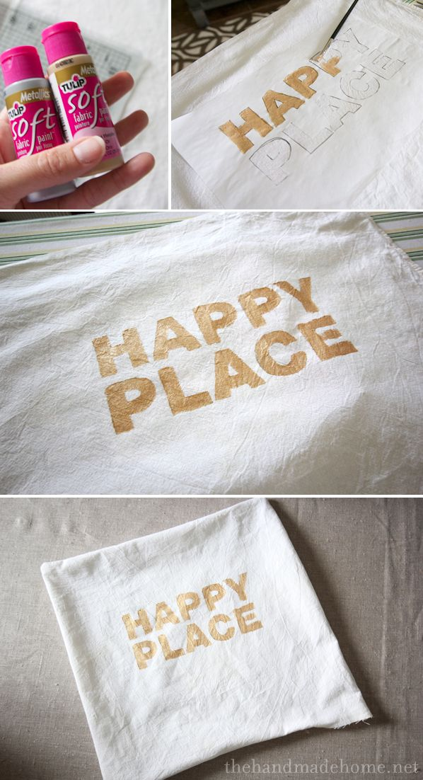 DIY screen printed pillow