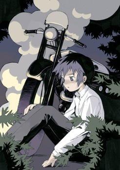 """Kino (once named """"Sakura"""") and Hermes (the motorcycle). - Kino's Journey Kino no tabi - Kino's journey #kinosjourney"""
