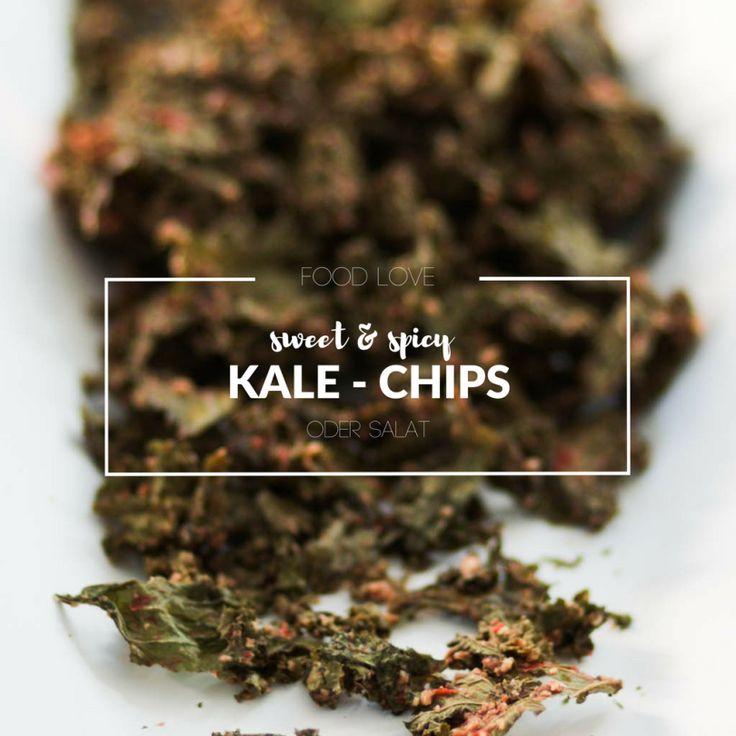 Food Love Friday : Zwei-in-Eins Kale-Paradies sweet & spicy Kale-Chips oder Salat