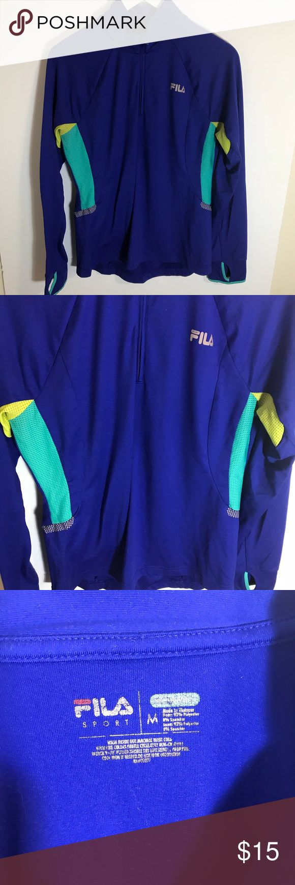 Fila Sport Gym Top long sleeve Fila Sport Gym Top long sleeve  Size Medium  Pre-loved but still in good shape see pics Fila Tops Tees - Long Sleeve