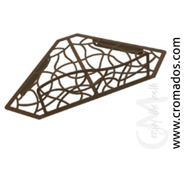Portagel de Rincón ARD900 de la serie Art Decó de CM Baños. Medidas: 31x19x10,5. Acabado en marrón forja con opción a blanco texturizado y negro forja. Estilo art decó rústico.