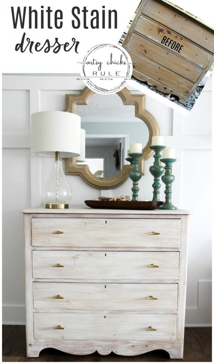 White Stain Dresser So Simple With Chalk Paint White Stained