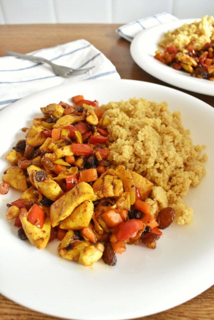 Cuscus Con Pollo Y Verduras Salteadas Receta Cuscus Con Pollo Pollo Con Verduras Y Verduras Salteadas
