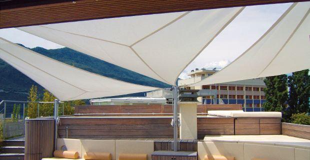 Voiles d'ombrage pour terrasse, véranda et atrium SOLTIS 92 | Serge Ferrari