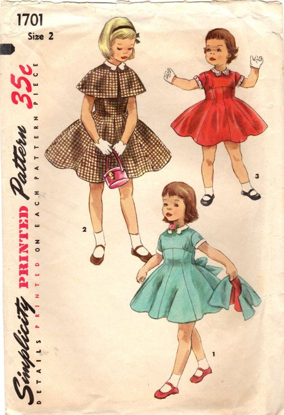 1950s Simplicity 1701 Vintage Sewing Pattern by midvalecottage