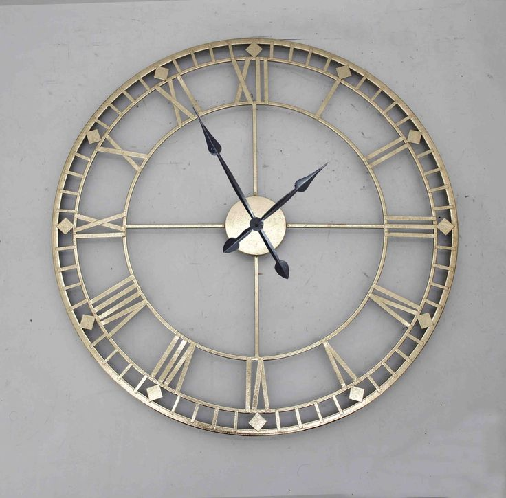 Antique Style Bronze Gold Metal Wall Clock Gold Wall Clock Large Wall Clock Decor Wall Clocks Living Room