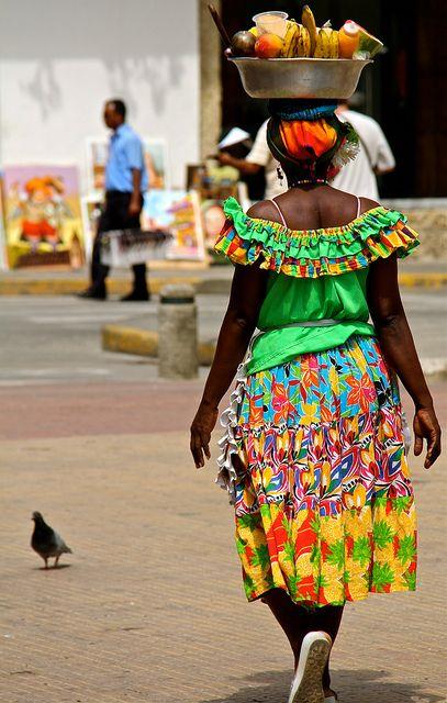 La Palenquera | Las Palenqueras are the famous ladies dresse… | Flickr