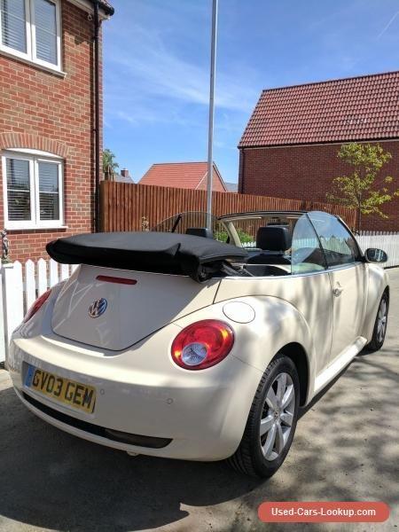 VW Beetle Convertible/Cabriolet 1.9 tdi 2006 diesel beige/cream #vwvolkswagen #beetle #forsale #unitedkingdom