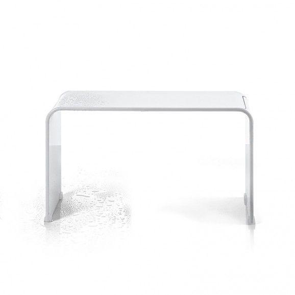 cool banc de douche xl blanc brillant bancs de douchebanc salle de with coffre tabouret salle de