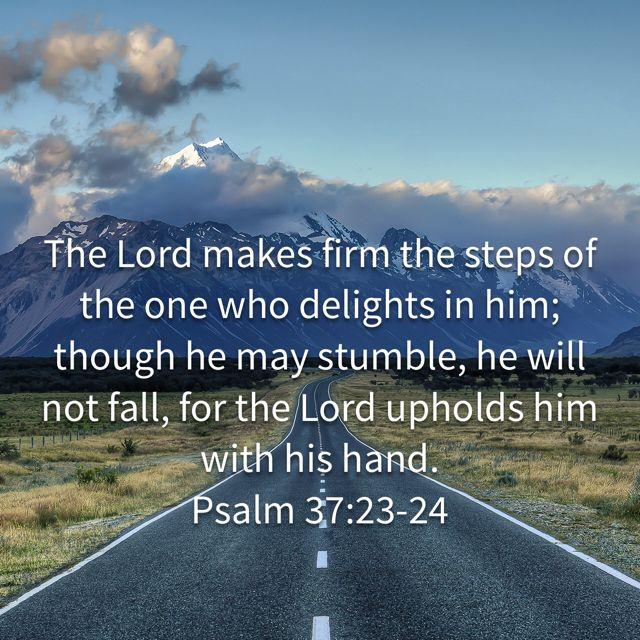 Psalm 37:23-24